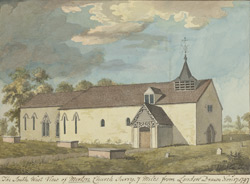 The South West View of Merton Church, Surry, 7 miles from London